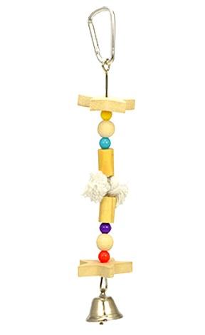 メーカー直売 おもちゃ 感謝価格 かじり木 小鳥 木製 ベル 鳥かご ハンガーS ブランコ サンコー アスレチック バードトイ
