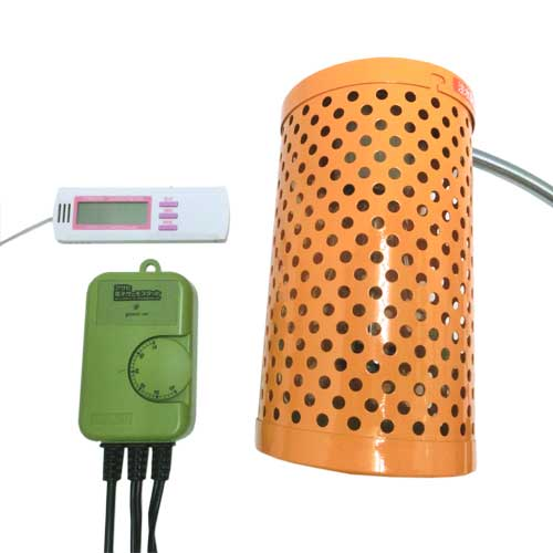 電子サーモスタット+ペットヒーター100W+マルチ湿・温度計 3点保温セット 【送料無料】