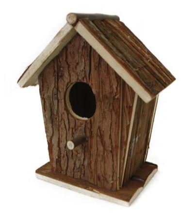 ご注文で当日配送 日本 お庭の木やベランダに取り付けて野鳥観察天然素材の杉巣箱 NPF N102 野鳥用巣箱
