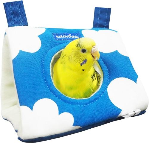 セキセイインコ マメルリハ 交換無料 小型インコ 寝床 クッション スーパーSALEポイント5倍 寒さ対策 日本限定 レインボー S お空のさんかくトンネル