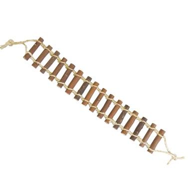 安心安全の樹木のつり橋 カワイ ニームつり橋 M 卓越 中型インコ モモンガ おもちゃ リス スーパーSALEポイント5倍 特価 天然木