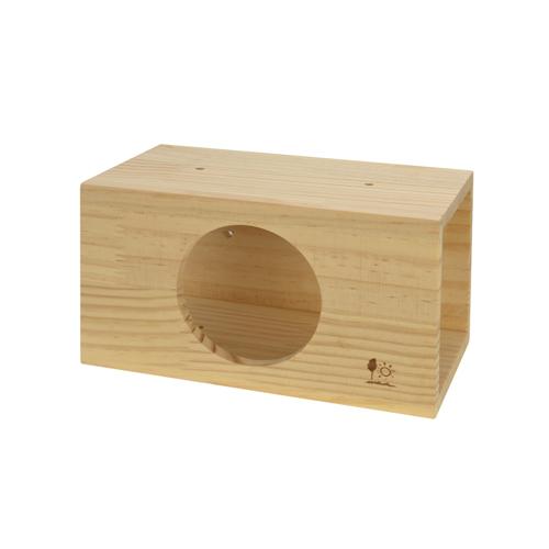 リスやモモンガ、デグー、ハリネズミなどの小動物用木製ハウス H31 サンコー スクエアトンネルM
