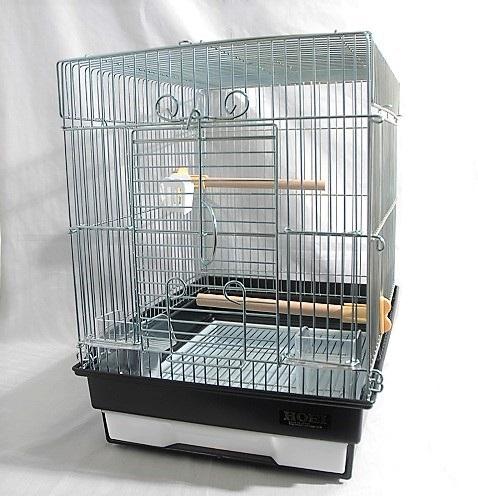 手乗りケージ 小鳥かご セキセイインコ 贈与 文鳥小鳥用手のりケージ 鳥かご HOEI ブラック 21手のり 組立サイズ:間口290×奥行365×高さ390mm 在庫一掃売り切りセール