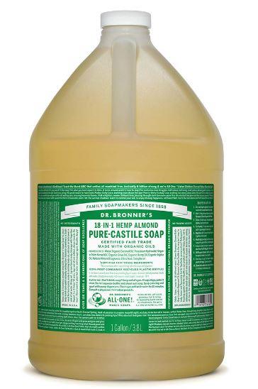 特大! 詰め替え用 Dr. Bronner's Pure-Castile Soap アーモンド 128 fl.oz リキッドタイプ ドクターブロナー マジックソープ