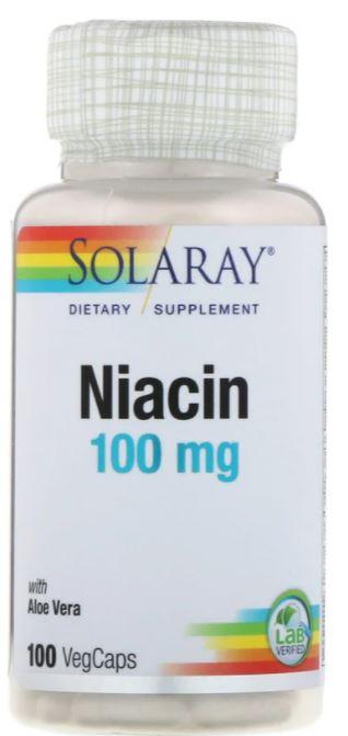 SOLARAY ナイアシン ハイクオリティ 新作多数 ビタミンB3 ナイアシン100mg 100粒