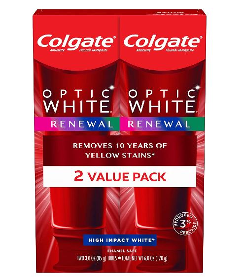 Colgate WHITE RENEW 2個セット 最新版 コルゲート オプティックホワイト リニュー ホワイトニング 歯磨き粉 85g Optic White Renewal Impact ハイインパクト 2本セット ホワイト お得な High 定番の人気シリーズPOINT ポイント ☆正規品新品未使用品 入荷