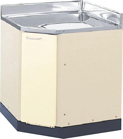 LIXIL サンウエーブ ホーロー コーナー用調理台 HRI2C-75 HRH2C-75