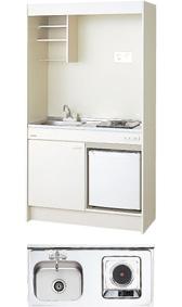 LIXIL サンウェーブ ミニキッチン 間口105cm 冷蔵庫タイプ 電気コンロ100V仕様・200V仕様 DMK10LFWB1A100 DMK10LFWB1A200