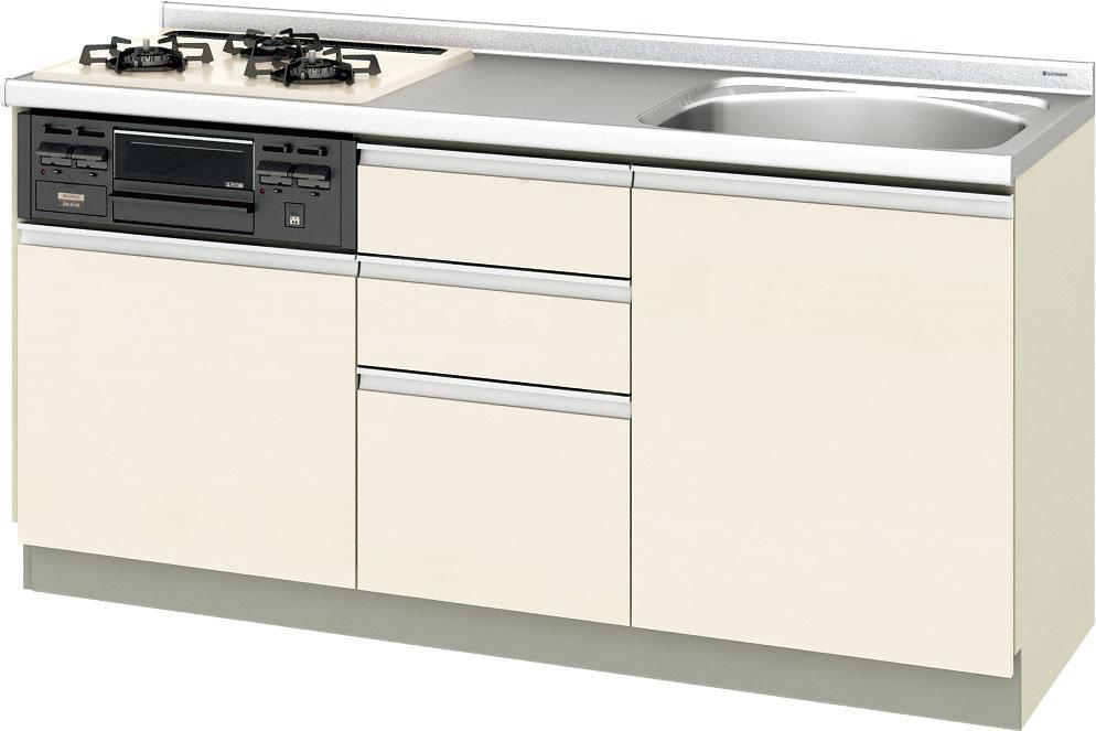 LIXIL サンウエーブ 取替えキッチン パッとりくん 間口165センチGXシリーズ GXI-U-165XNA GXC-U-165XNA