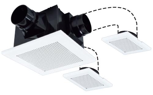 三菱電機 24時間換気機能付き ダクト用換気扇 天井埋込型 VD-15ZFFLC10 (VD15ZFFLC10)