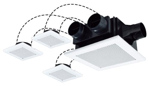 三菱電機 24時間換気機能付き ダクト用換気扇 天井埋込型 VD-18ZFFLC10 (VD18ZFFLC10)