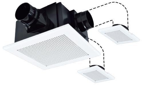 三菱電機 24時間換気機能付き ダクト用換気扇 天井埋込型 VD-18ZFVC3 (VD18ZFVC3)