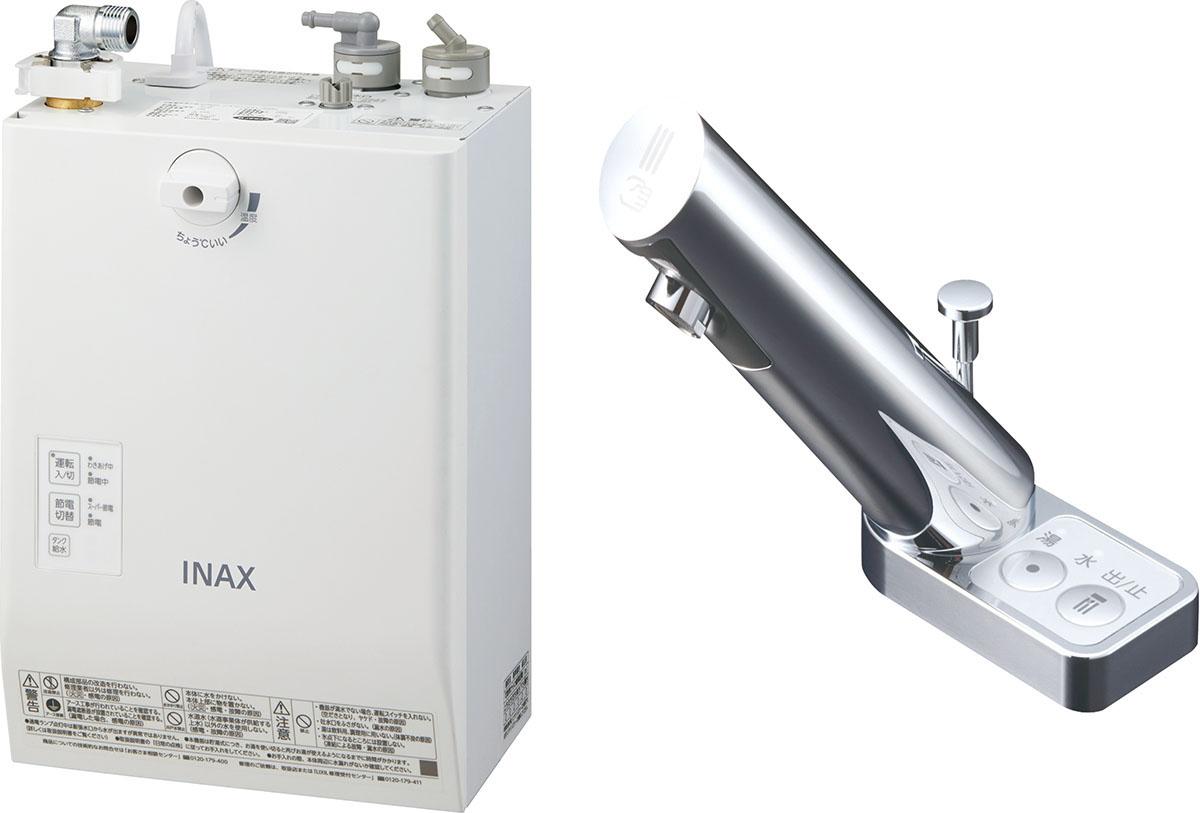LIXIL INAX ゆプラス 自動水栓一体型壁掛 適温出湯スーパー節電タイプ 3L オートマージュA 手動・湯水切替スイッチ付 EHMN-CA3ECSA3-203