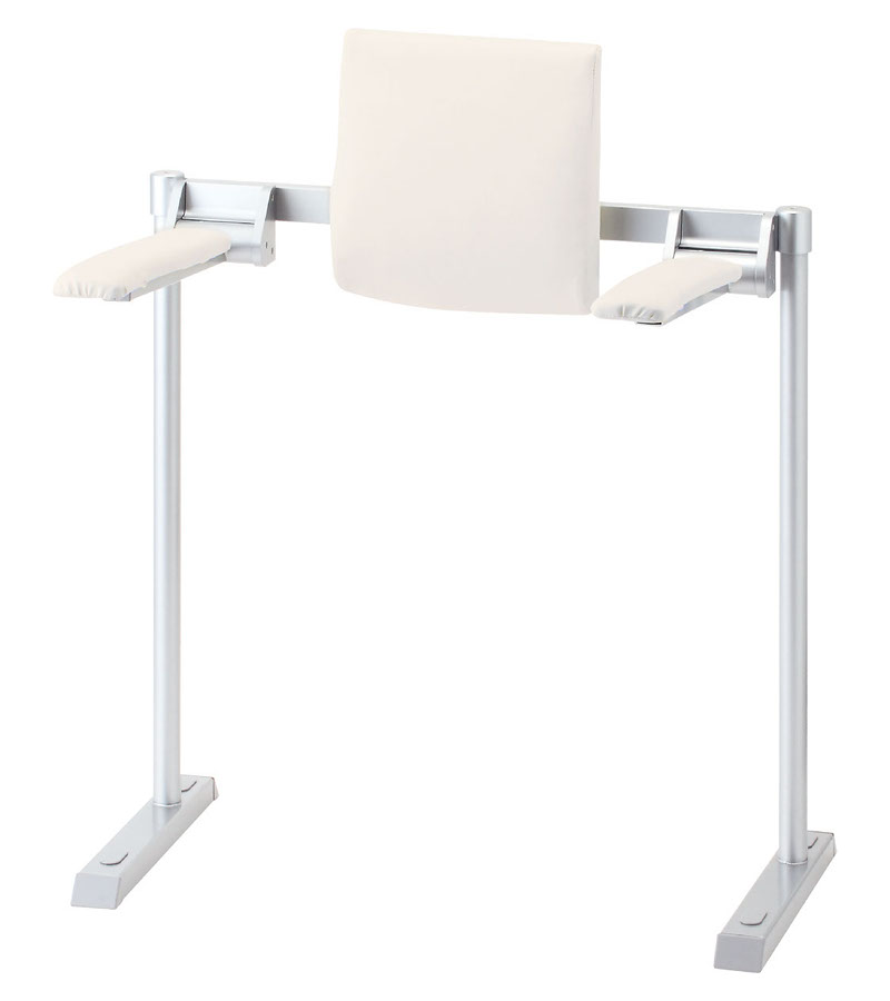 LIXIL INAX 肘掛け手すり(床付式・背もたれ付) 合成皮革タイプ KFC-292EU2