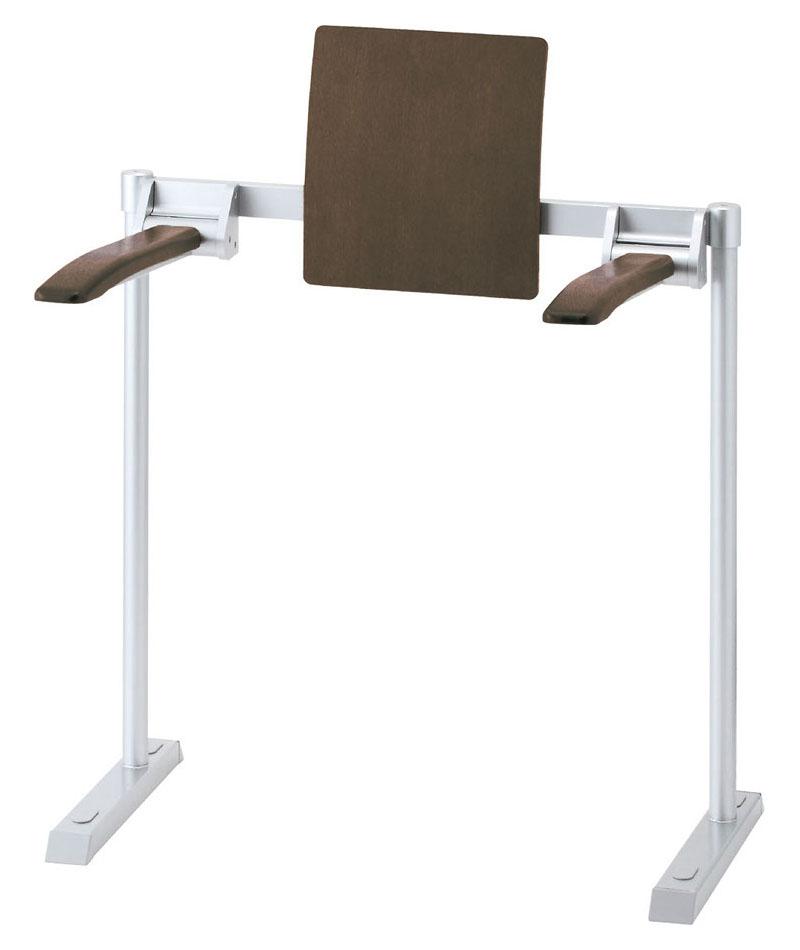 LIXIL INAX 肘掛け手すり(床付式・背もたれ付) 天然木タイプ KFC-292K