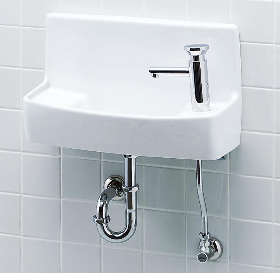 LIXIL INAX 壁付手洗器(プッシュ式セルフストップ水栓) L-A74PC L-A74PA L-A74PD L-A74PB