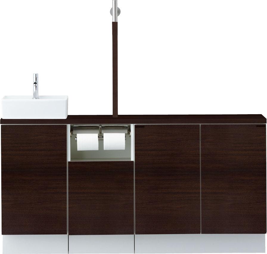 LIXIL INAX トイレ手洗 キャパシア フルキャビネットプラン(カウンター奥行き280) 手すり付