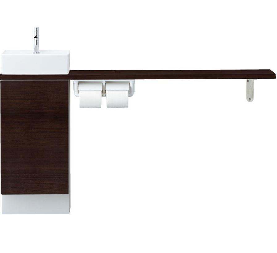 LIXIL INAX トイレ手洗 キャパシア カウンターキャビネットプラン(カウンター奥行き280)手すりなし