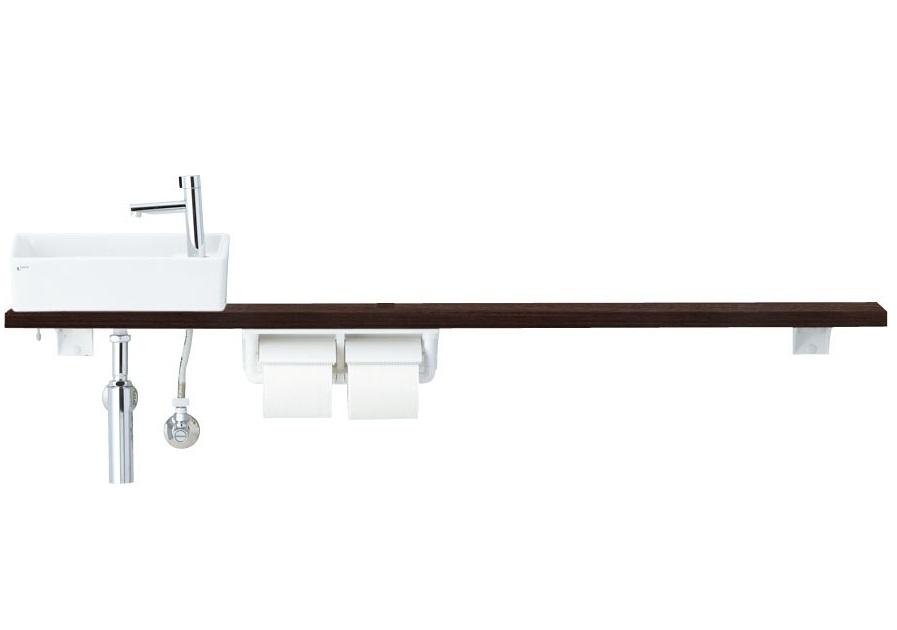 LIXIL INAX トイレ手洗 キャパシア カウンタープラン(カウンター奥行き160)手すりなし
