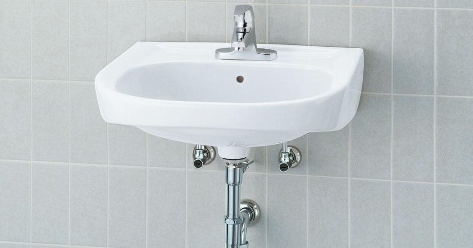 LIXIL INAX 大形洗面器 (シングルレバー混合水栓セット) L-176UEC + LF-B350SY