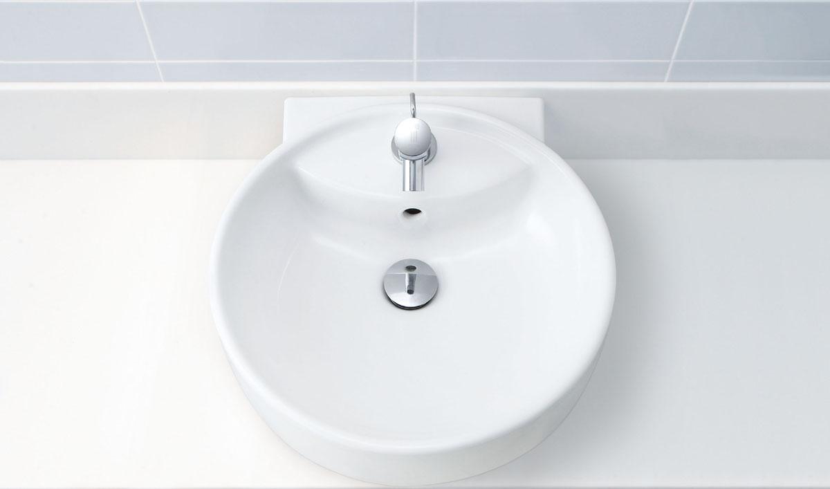LIXIL INAX 丸形洗面器 (自動水栓セット) L-543FC + AM-200TV1