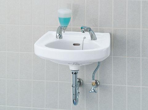 LIXIL INAX 小形洗面器 (立水栓セット) L-132G + LF-503
