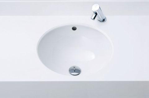 LIXIL INAX アンダーカウンター式洗面器 (サーモスタット付自動水栓セット) L-2260 + AM-200TCV1