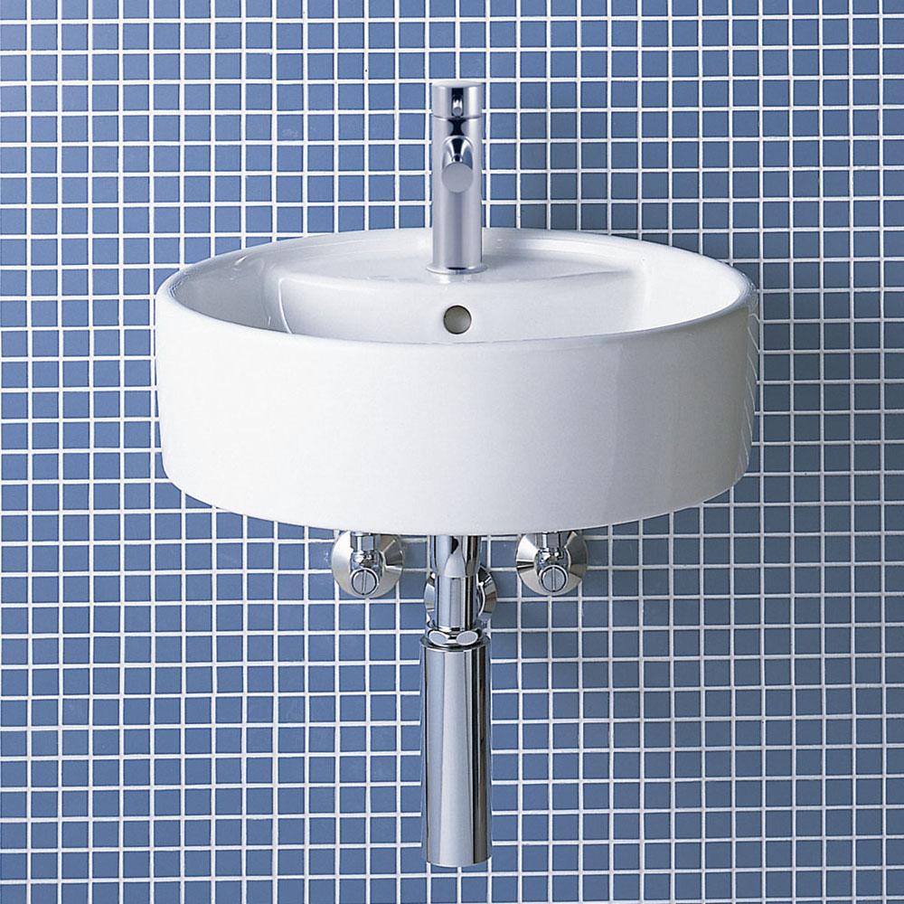 LIXIL INAX サティス洗面器(YL-543タイプ) 壁付式 床排水(ボトルトラップ) YL-A543SYP(C) YL-A543SYQ(C)