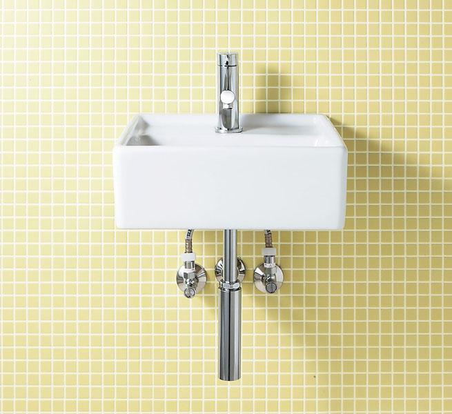 LIXIL INAX コンパクト洗面器(YL-531タイプ)壁付式 床排水(Sトラップ) YL-A531TA(C) YL-A531TB(C)