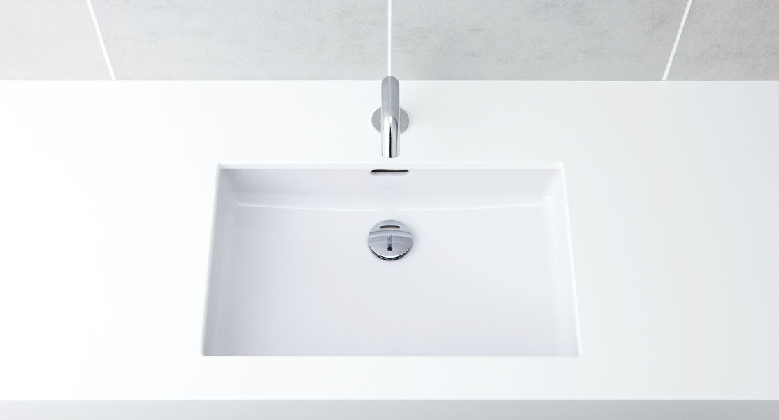 LIXIL INAX はめ込み角型洗面器 アンダーカウンター式 L-2250+AM-130TC(100V)