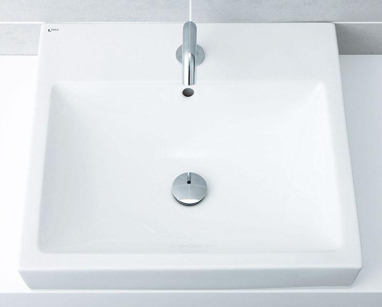 LIXIL INAX 角形洗面器 スクエアタイプ ベッセル式 L-536ANC + AM-130TC(100V)