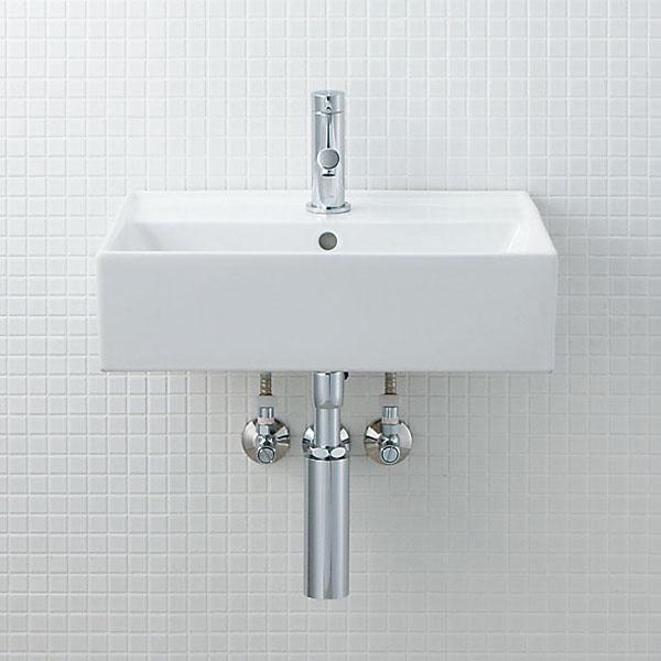 LIXIL INAX サティス洗面器(YL-555タイプ) 壁掛式 床排水(Sトラップ) YL-A555SYA(C) YL-A555SYB(C)
