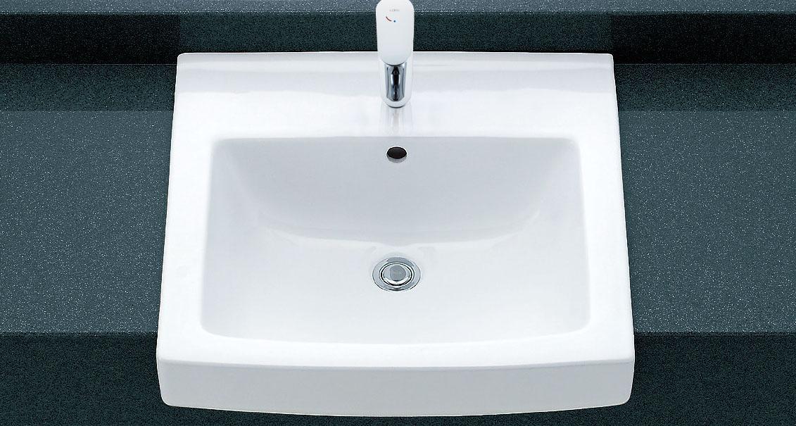 LIXIL INAX オーバーカウンター式洗面器 (シングルレバー混合水栓セット) L-2150FC + LF-WF340SY