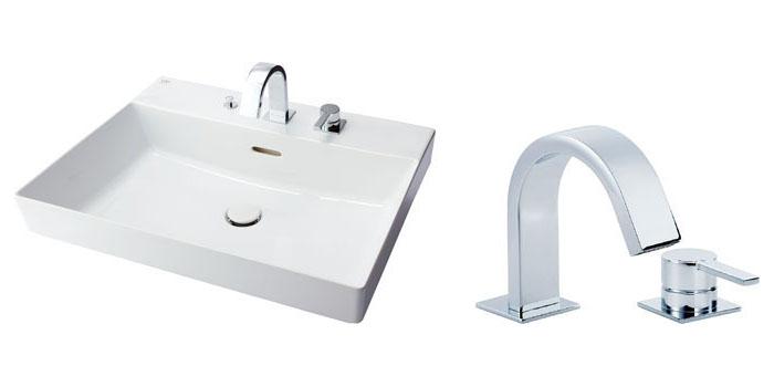 LIXIL INAX 角形洗面器(ベッセル式)YL-A401ワイドスクエアタイプ 床排水(Sトラップ) YL-A401JYCA(C)V YL-A401JYCB(C)V