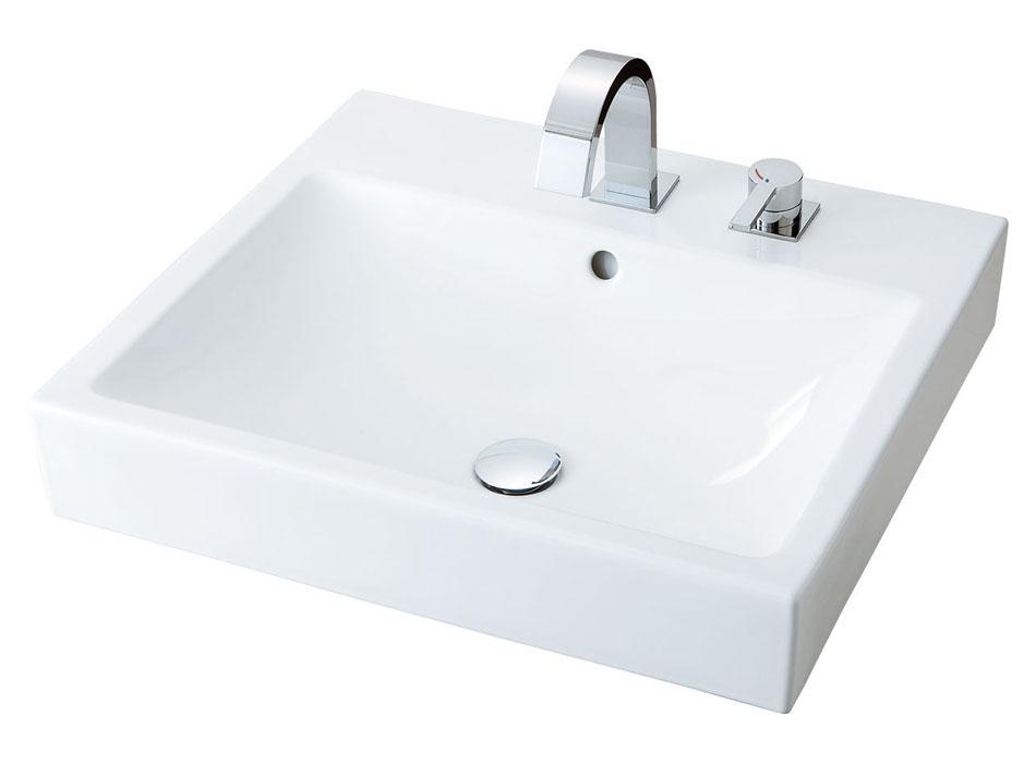 数量限定価格!! LIXIL INAX 角形洗面器(ベッセル式) YL-A536スクエアタイプ 床排水(ボトルトラップ) YL-A536JYP(C) YL-A536JYH(C):アクアshop-木材・建築資材・設備