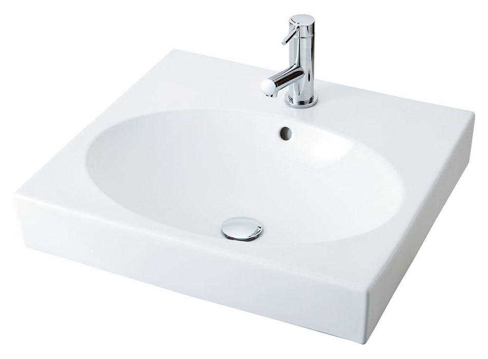 LIXIL INAX 角形洗面器(ベッセル式) YL-A546オーバルタイプ 床排水(Sトラップ) YL-A546SYA(C) YL-A546SYB(C)