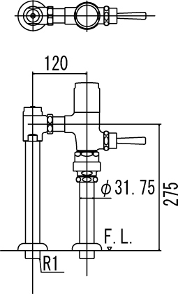LIXIL INAX フラッシュバルブ 洗浄水量6-8L用 節水形 CF-610R7J
