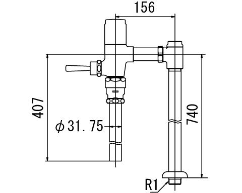 LIXIL INAX 低圧用フラッシュバルブ 洗浄水量6-8L用 節水形 CF-6115UTA