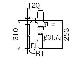 LIXIL INAX フラッシュバルブ 洗浄水量6-8L用 節水形 CF-T610B