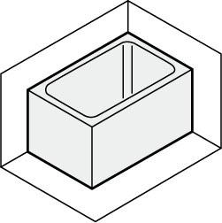 LIXILサンウエーブステンレス浴槽据置式2方全エプロン間口90センチタイプSA090-22RA-BLSA090-22LA-BL