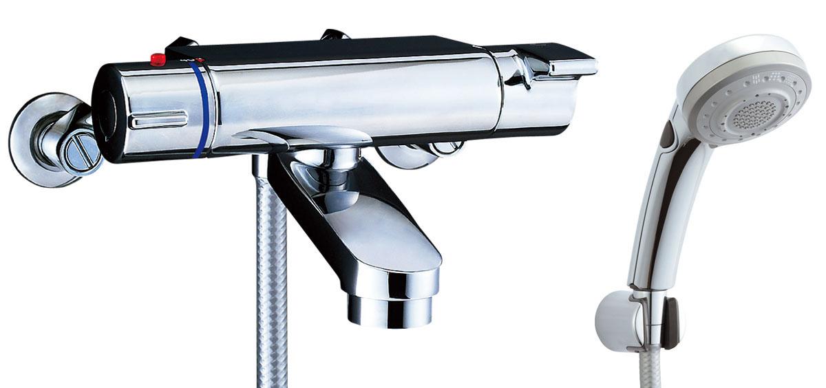 LIXIL INAX サーモスタット付シャワーバス水栓 エコフルスイッチ多機能シャワー洗い場専用 ヴィラーゴ BF-2147TKSBW BF-2147TKNSBW