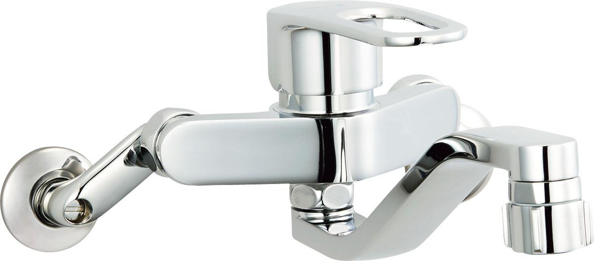 LIXIL INAX キッチンシャワー付シングルレバー混合栓 壁付タイプ SF-WM433SY クロマーレS 大幅値下げランキング 日本正規代理店品 SF-WM433SYN エコハンドル