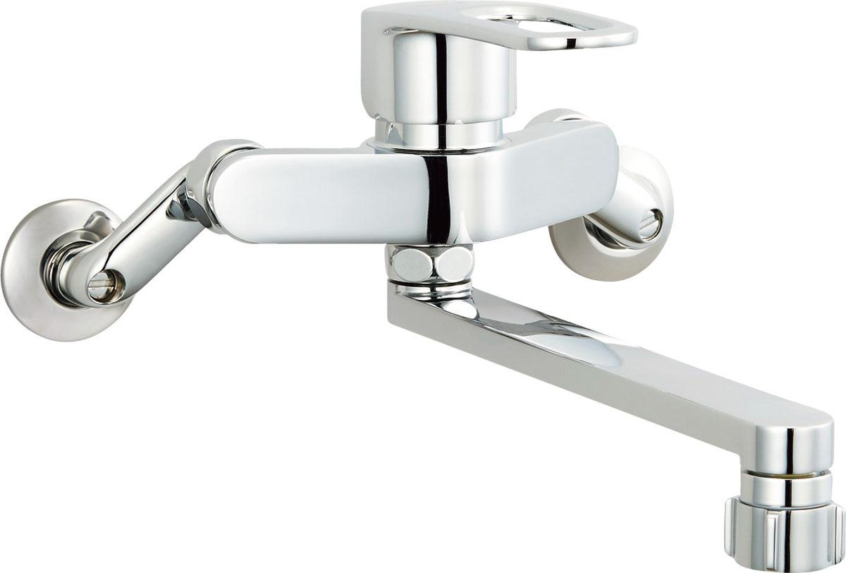 LIXIL INAX キッチンシャワー付シングルレバー混合栓 壁付タイプ クロマーレS(エコハンドル) SF-WM432SY SF-WM432SYN