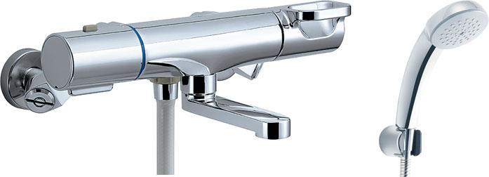 LIXIL INAX サーモスタット付シャワーバス水栓エコフルスプレーシャワー(メッキ仕様)洗い場専用 クロマーレS BF-WM147TSC BF-WM147TNSC