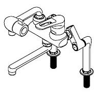 イトミック 混合水栓 MZ-N3P(まぜまぜP)シリーズ 熱湯口付 立ち上がり配管 MZ-3N3P