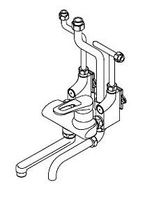 イトミック 混合水栓 MZ-N3(まぜまぜ)シリーズ 熱湯口なし 露出配管 MZ-5N3