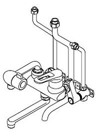 イトミック 混合水栓 MZ-N3(まぜまぜ)シリーズ 熱湯口付 露出配管 MZ-9N3