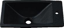 カクダイ 角型手洗器(墨) 493-010-D