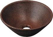 カクダイ 丸型手洗器(窯肌) 493-011-M
