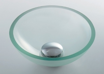 カクダイ ガラス丸型手洗器 硝(SHOW) 493-028-C(クリア)